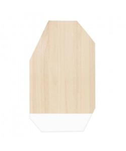 ECO DESIGN A1537 Planche a découper 30x50cm  Brut/Blanc