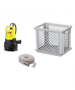 KARCHER Kit antiinondation avec une pompe SP 5 Dirt, un tuyau d\'évacuation et une caisse de rangement