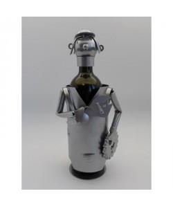 Support bouteille Décoration Mécanicien 14x13x21cm  Métal