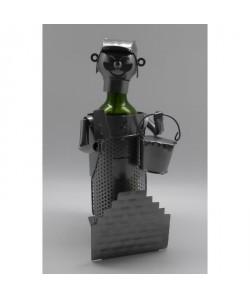 Porte bouteille Décoration Maçon 16x16x22cm  Métal