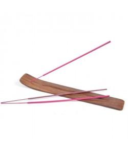 Portebâton d\'encens en bois  5 bâtons d\'encens