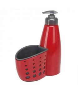 GIMEL Distributeur de savon avec porteéponge rouge et gris
