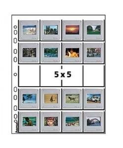 HAMA Pochettes pour 20 diapositives encadrées  Format 5x5 cm  25 pieces