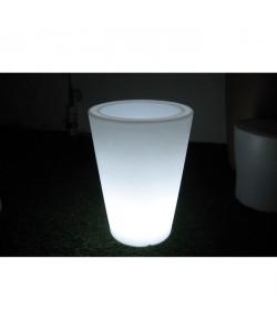 LUMISKY Vase lumineux conique Angus blanc 38 cm