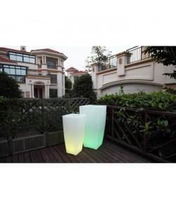 LUMISKY Pot lumineux Led sur batterie rechargeable avec télécommande  43 x 43 x 85 cm