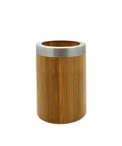 FRANDIS Pot a ustensiles rond en bambou Ř10cm marron
