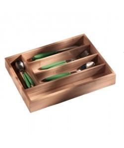 FRANDIS Range couverts 5 cases en bambou 37x30x4,5cm marron