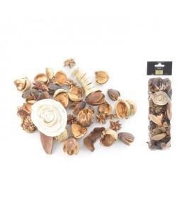 Pot pourri 140 g  8x30x5 cm  Parfum vanille  Beige écru
