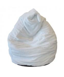 Poire Lisa en fausse fourrure Ř70xh100 cm blanche