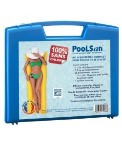 POOLSAN Kit complet de désinfection  100% sans chlore  Pour piscines de 45 a 60 mł