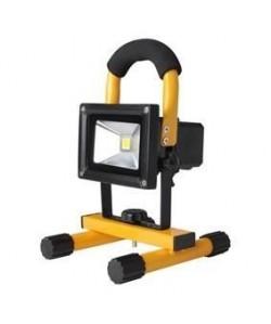 KONIG Projecteur LED  Rechargeable  10 W  700 lm  Noir / Jaune