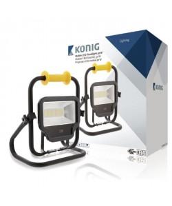 KONIG Projecteur LED  50 W  4000 lm  Noir
