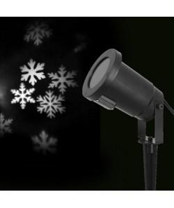 Projecteur LED de Noël  Flocons blanc