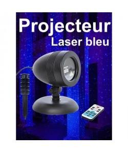 Projecteur laser de Noël bleu avec télécommande