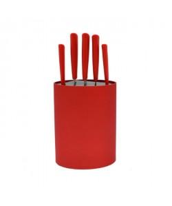 FRANDIS Bloc 5 couteaux  Rouge