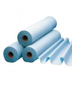 Draps de protection plastifié pour lit et lit d\'examen LCH  l 50 cm x L 65 metres  1 rouleau