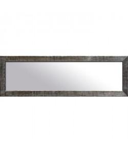 NAPLES Miroir psyché pin 42x132 cm Marron et argenté