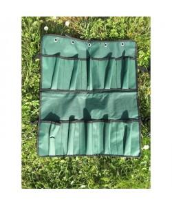 Range outil mural en tissu  Vert