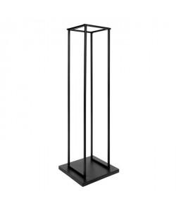 Portebűches métal 115x33x33 cm noir
