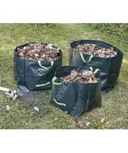 COGEX Lot de 3 sacs a déchets végétaux en polyéthylene  Autostable  70 L, 100 L et 170 L