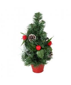 Sapin de Noël avec pomme Rouges 30 cm
