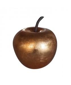Décoration de Noël Pomme dorée en polyrésine Ř25,5 x29cm