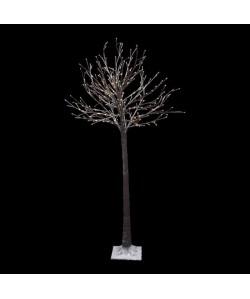 Sapin de Noël artificiel lumineux Blanc H1,5 cm Tronc épais
