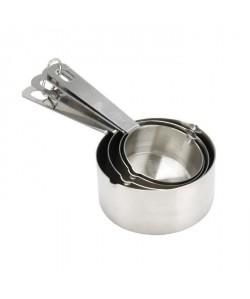 EQUINOX Lot de 4 casseroles a mesurer 6812,525 cl gris