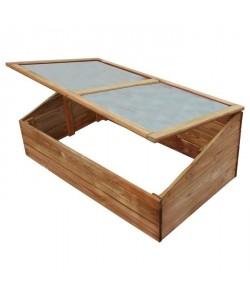 EKJU Serre avec plexiglass en sapin  100 x 60 x H 39 cm