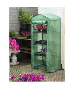 NATURE Serre de jardin avec étageres en polyéthylene armé 69x49xH160cm  Translucide