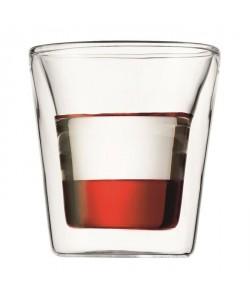 BODUM CANTEEN Set 2 verres double paroi 0.1 l Transparent