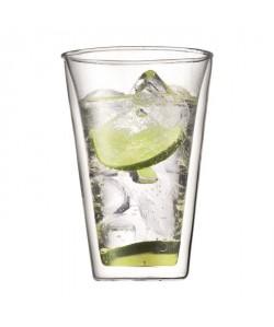BODUM CANTEEN Set 2 verres double paroi 0.4 l Transparent