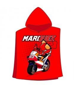 GP MOTORS Serviette Poncho Marc Marquez  Rouge et Noir