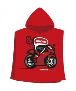 GP MOTORS Serviette Poncho Ducati  Rouge et Noir