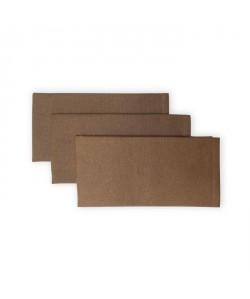 SOLEIL D\'OCRE Lot de 3 serviettes de table Panama  45x45 cm  Beige taupe
