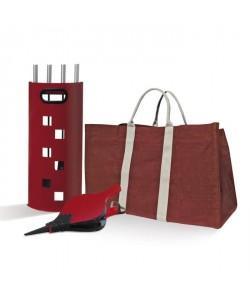 Pack serviteur  panier  Soufflet rouge