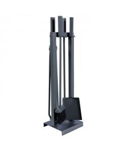 Serviteur de cheminée 17x17x66 cm époxy gris