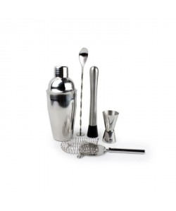 YONG Set de 5 pieces a cocktails  En inox