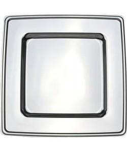 Lot de 4 sous assiettes carrées  30 x 30 cm  Argent