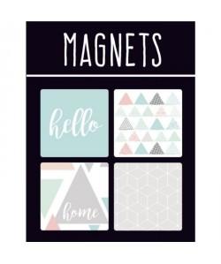 EMOTION Lot de 4 magnets style Scandinave  Couleur pastel