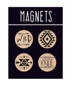 EMOTION Lot de 4 magnets en liege