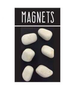 EMOTION Lot de 6 magnets immitation pierre