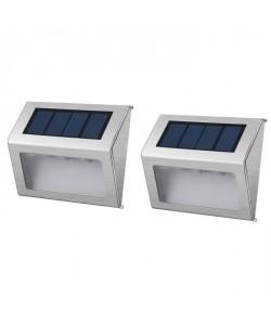LUMISKY Pack de 2 Spots solaires mural extérieur étanches  3 LEDs