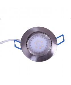 Spot encastrable LED diametre 8,2 cm  4W équivalent a 40W argent