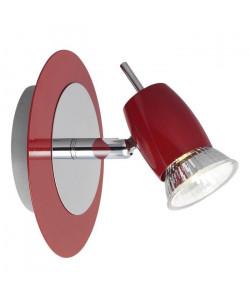 Spot patere Kora 1xGU10 40W rouge et chrome