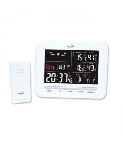 INOVALLEY SM104 Station météo avec sonde  Sans fil  Ecran couleur  Blanc