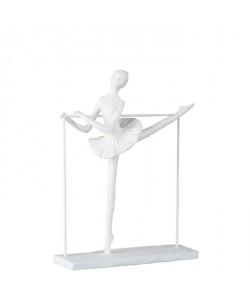 DANSEUSE Statuette déco Polyrésine 24x8x30 cm Blanc