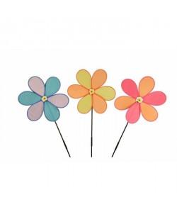 Moulin a vent  Fleur et baguette  6 couleurs assorties