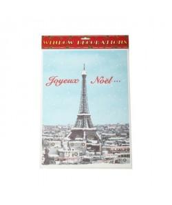 Décos de Noël Statique Tour Eiffel paillettes 40cm