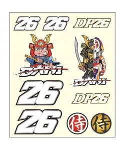 GP MOTORS Stickers medium Dani Pedrosa  Multicolore